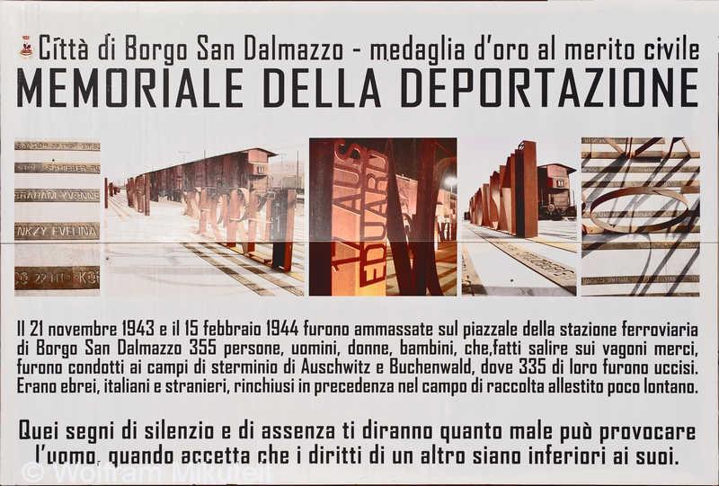 Memoriale della Deportazione - Borgo San Dalmazzo im Sturatal - Foto: © Wolfram Mikuteit