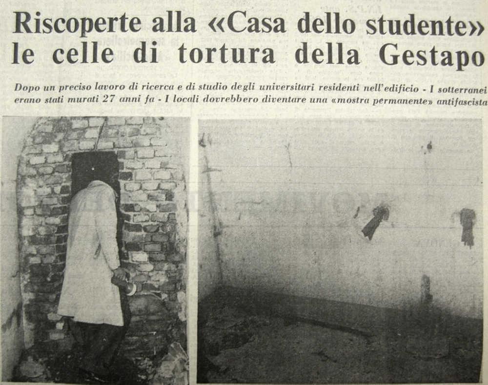 Casa dello Studente, Genua - Folterkeller