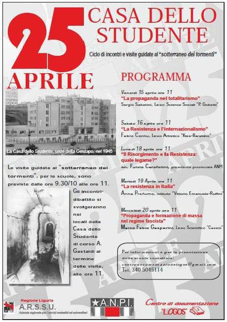 Casa dello Studente - Veranstaltungsprogramm