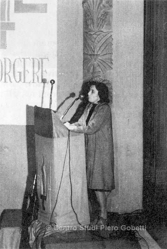 Ada Gobetti - 1946 auf dem Kongress des Partito d'Azione. Mit freundlicher Genehmigung: © Centro Studi Piero Gobetti