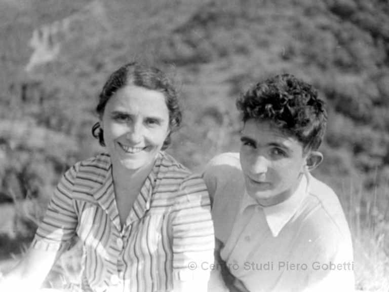 Ada Gobetti mit Sohn Paolo - mit freundlicher Genehmigung: © Centro Studi Piero Gobetti