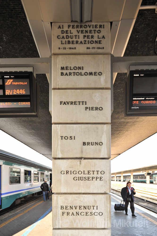 Venedig - im Widerstandskampf gefallene Eisenbahner - Foto: © Wolfram Mikuteit