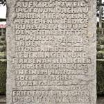 Gedenktafel am KZ-Friedhof Birnau - Foto: © Wolfram Mikuteit