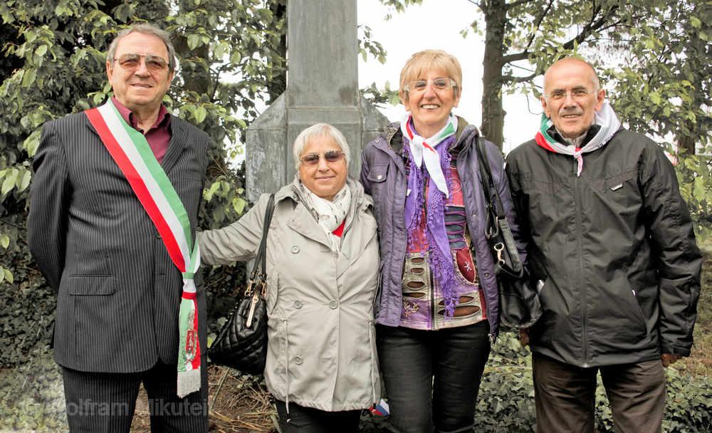 die italienische Delegation auf der Gedenkfeier 2014 - KZ-Friedhof Birnau - Foto: © Wolfram Mikuteit