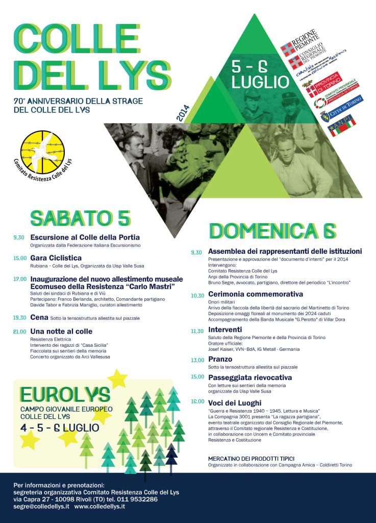 Colle del Lys 2014 - Veranstaltungsprogramm