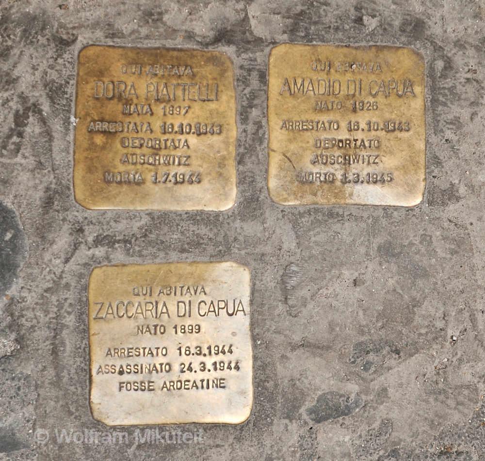 Stolpersteine in Rom - Foto: © Wolfram Mikuteit