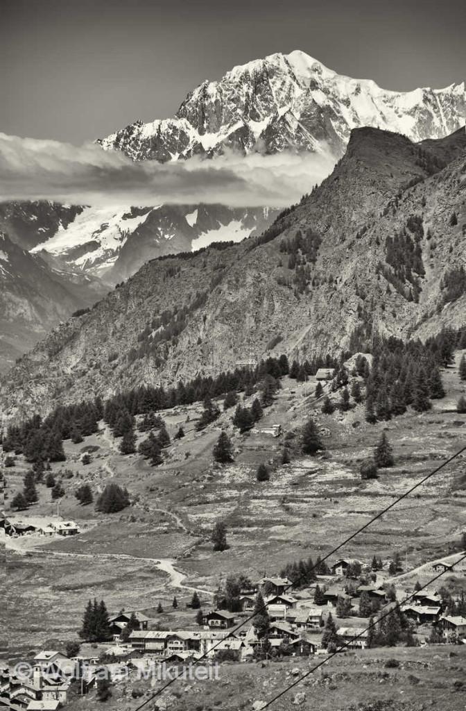 beste Sicht vom Val di Cogne auf den Montblanc - Foto: © Wolfram Mikuteit