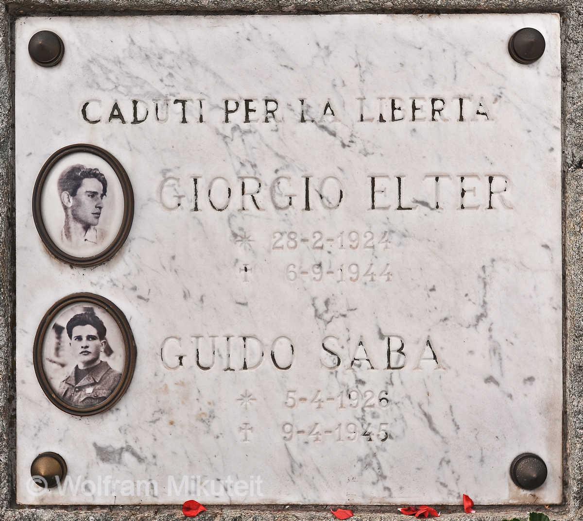 Gedenktafel für Giorgio Elter und Guido Saba - Foto: © Wolfram Mikuteit