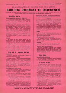Flugblatt der provisorischen Regierung im Ossolatal