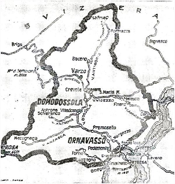 Ossolo-Tal - Karte