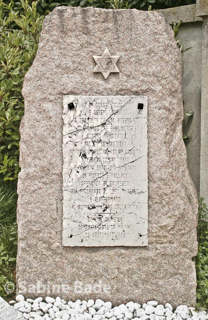 Gedenkstein in Meina, Parco Fratellanza - Foto: © Sabine Bade