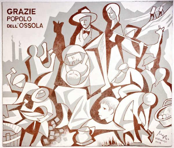 Wandgemälde von Angelo del Devero in Domodossola