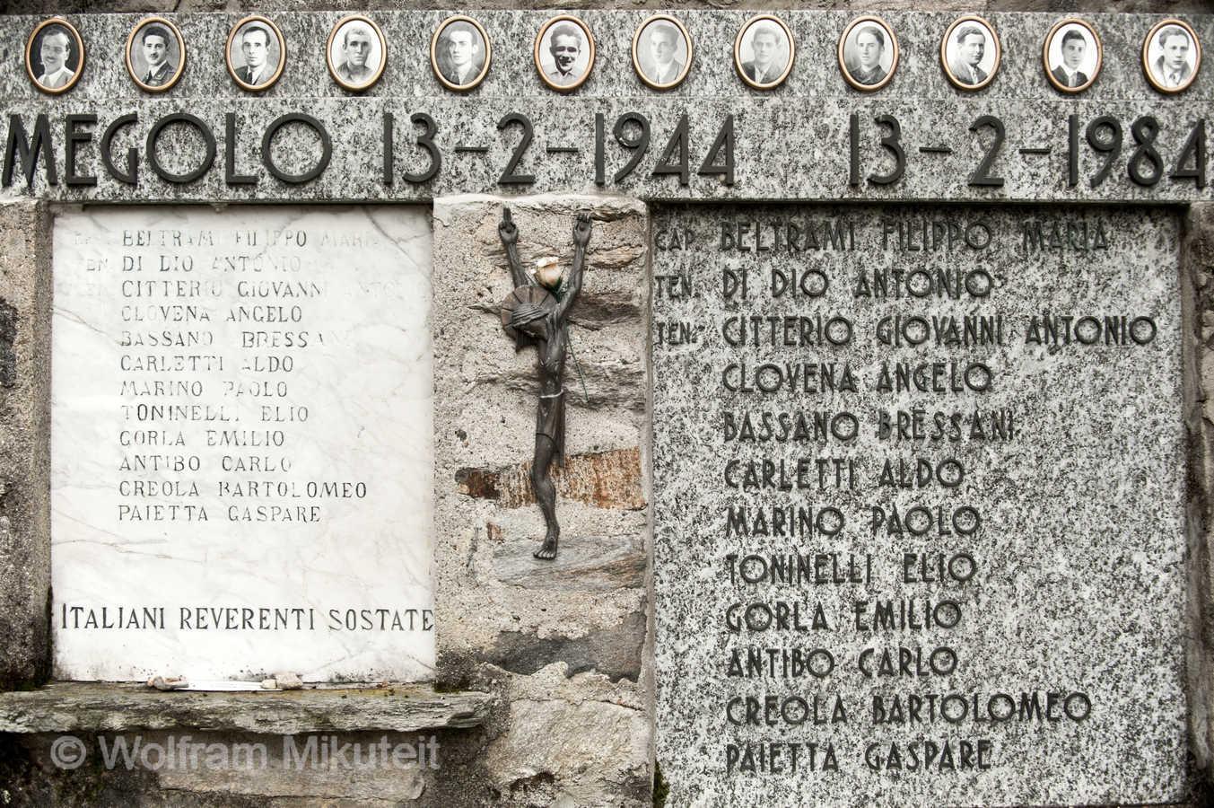 Gedenkstätte bei Cortavolo