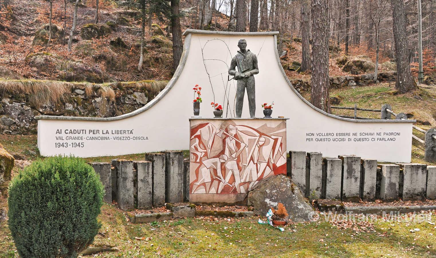 Finero, Monument für die Opfer des Befreiungskampfes