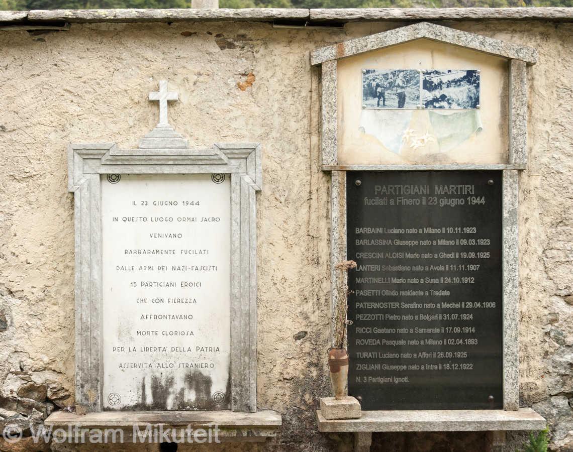 Finero, Friedhofsmaue
