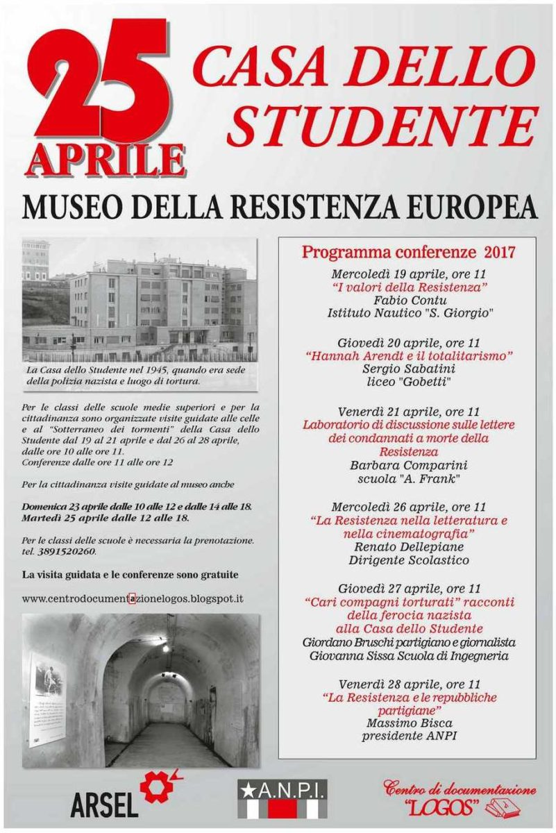 Casa dello Studente: Veranstaltungsprogramm zum Tag der Befreiung, 25. April 2017