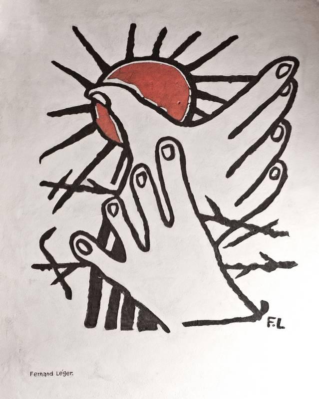 Graffiti von Fernand Léger - Foto: © Wolfram Mikuteit
