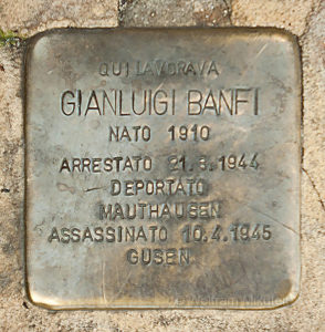 Stolperstein fuer Gian Luigi Banfi - Foto: © Wolfram Mikuteit